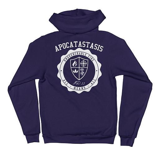 Apocatastasis Stamp zip hoodie