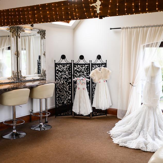 Bridal Preparation Room at Bordesley Park Wedding Venue West Midlands