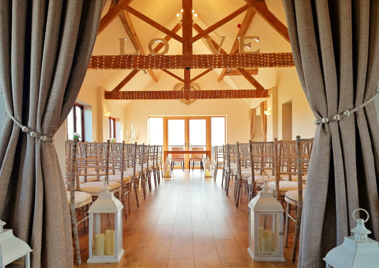 Tudor Barn Ceremony Room at Bordesley Park Wedding Venue Redditch