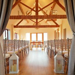 Tudor Barn Ceremony Room at Bordesley Park Wedding Venue Worcestershire