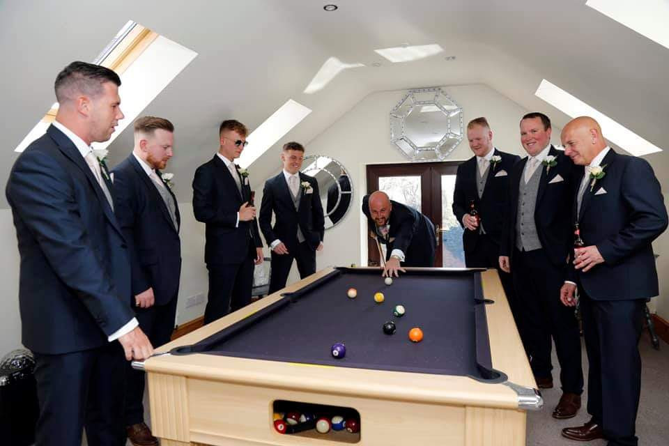 Room For The Groom at Bordesley Park Wedding Venue Redditch