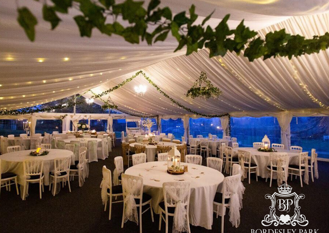 Luxury Marquee at Bordesley Park Wedding Venue Redditch