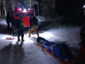 Rescue of Injured Skier on Fremont Peak