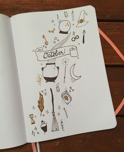 October 2018 - second layout - after I saw Amanda's Harry Potter-inspired October layout, I knew I had to do one, too