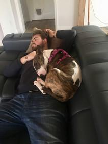 January 5th: Snugging dad