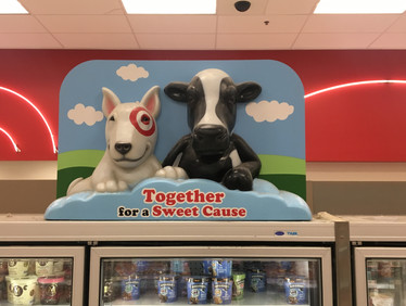 January 5th: Bean and a cow at Target (you should be able to bring your dog into Target if you have a bull terrier I'm just saying)