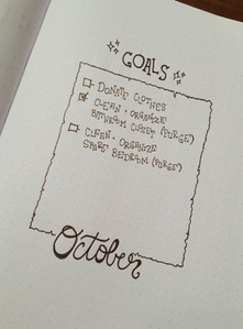 October 2018 goals - even though this page is super simple, I love it so much
