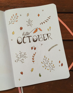 October 2018 - first layout - simple but I liked it