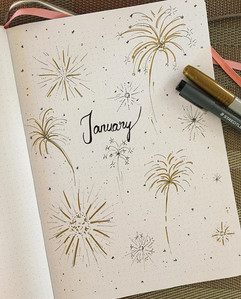 January 2019 - inspired by Amanda's 2018 January layout; absolutely love how this turned out