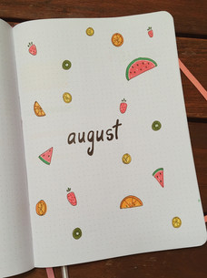 August 2018 - didn't turn out the way I wanted, but it's sort of cute