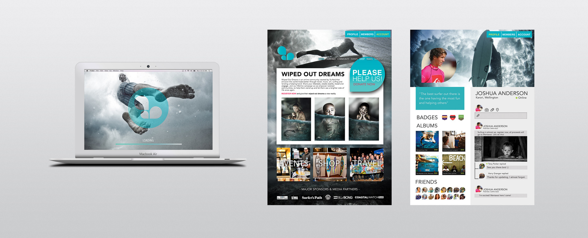 "SURFAID ""Wiped Out Dreams""  - Ad Campaign"