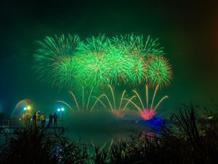 VII международный фестиваль фейерверков «Звездопад» в Изумрудном цвете!