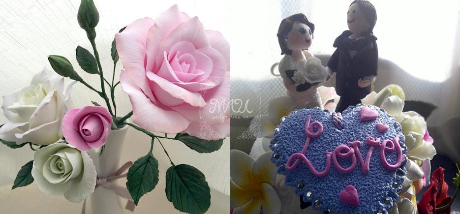 薔薇(バラ)とリングピロー