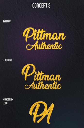 Pittman Authentic   Logo Typography