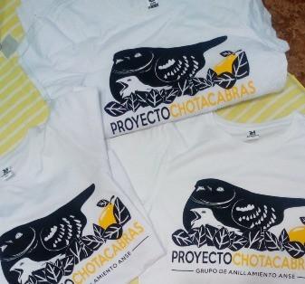 Camiseta para contribuir con el proyecto chotacabras. El rollo verde. Región de Murcia.