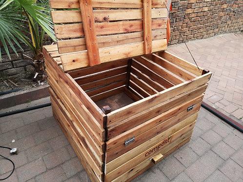 Garden waste composting box