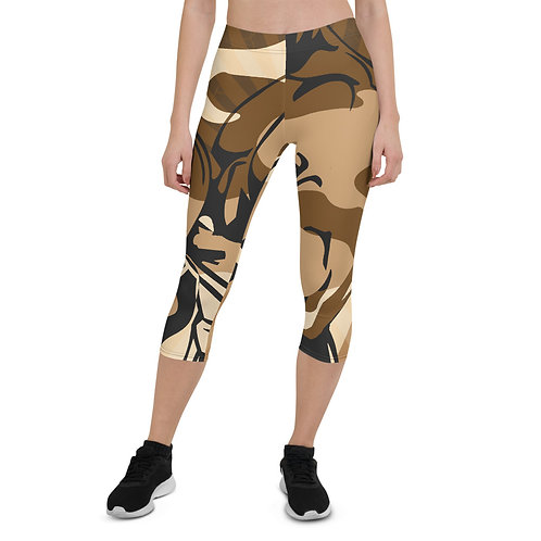 """By All Means"" Desert Cameo Capri Leggings"