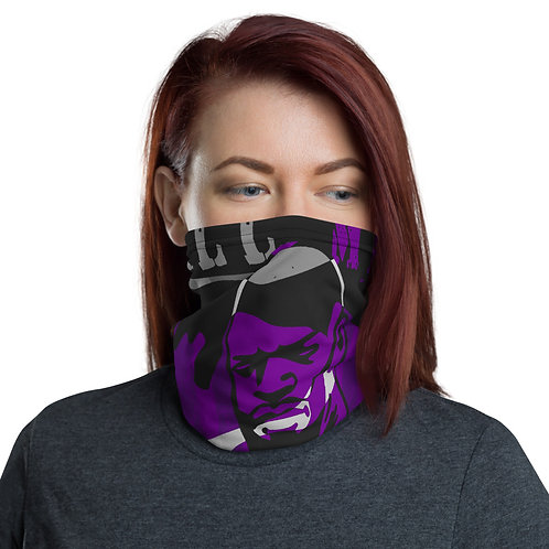 """BY ALL MEANS"" Purple Cameo Neck Gaiter"