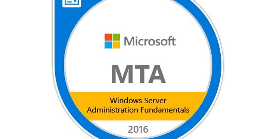 MTA 98-365: Windows Server 2016 Administration Fundamentals (1 Day)