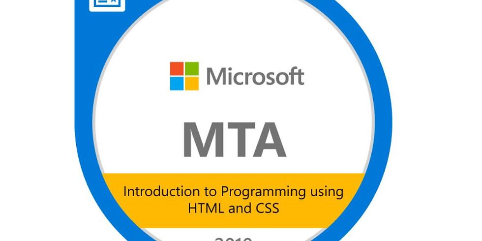 MTA 98-382 + MTA 98-383: Introduction to Programming (HTML, CSS, JavaScript)