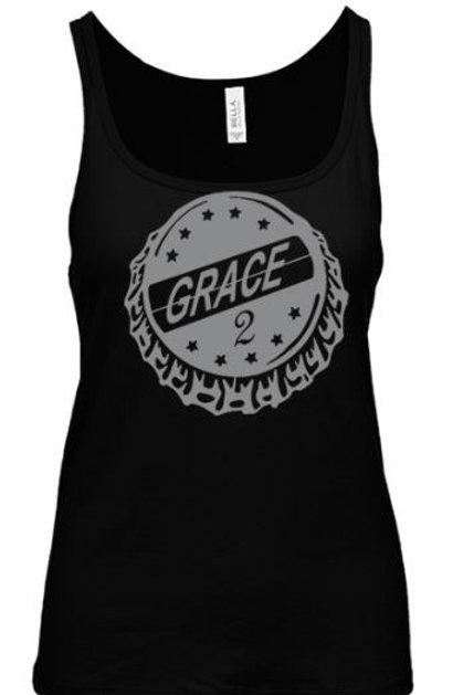 Grace, 2 Bottle cap Ladies Tank top