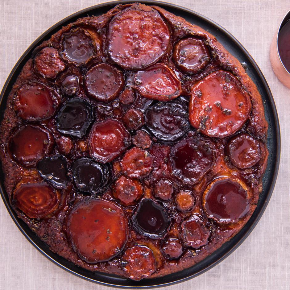 Favorite recipe in 2020: Root Vegetable Tarte Tatin on Pâte Brisée