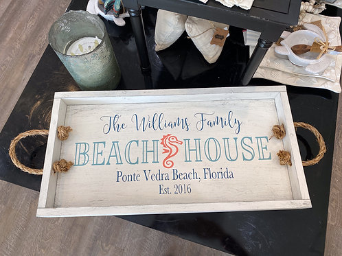 Framed Tray - Personalized Beach House