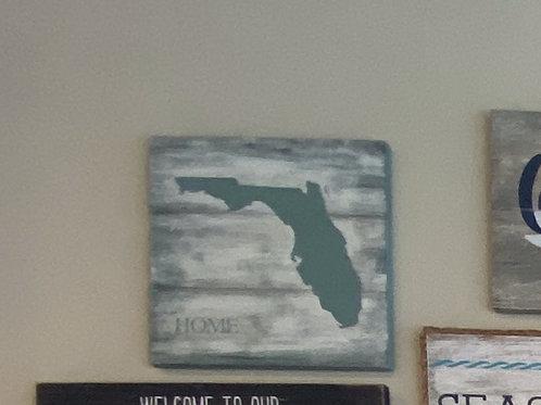 Florida Square Classic Plank Sign