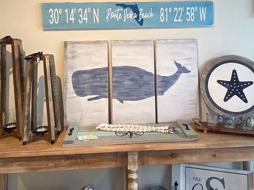 Whale - Split Sign