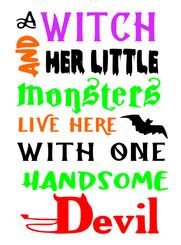 17x24 Witch Little Monsters Devil.jpg
