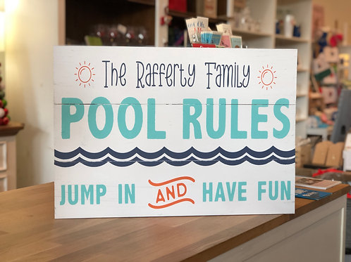 Personalized Pool Rules