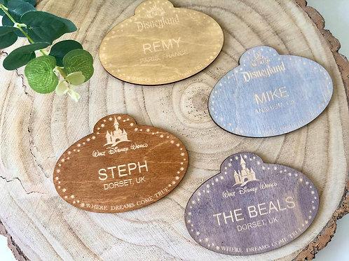 Parks Cast Member Name Tag Coaster - Individual