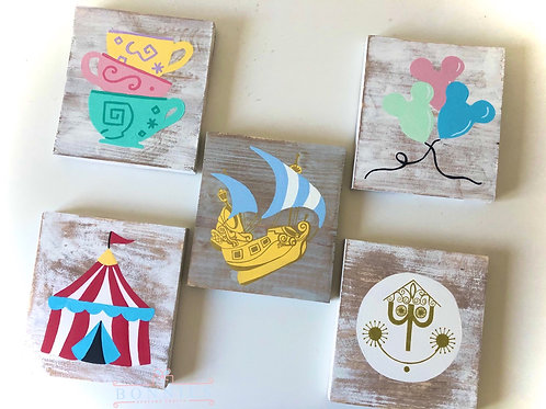 Set Of Fantasy Inspired Solid Wood Signs