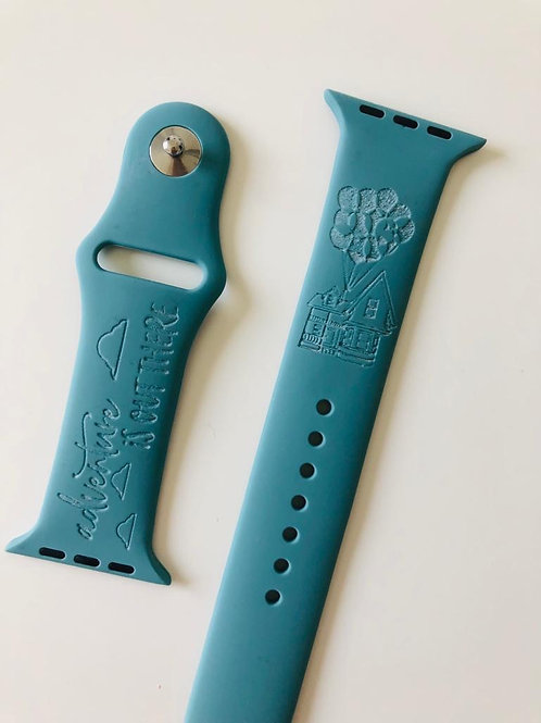 Adventure Is Out There Design Watch Band (For Apple Watch)