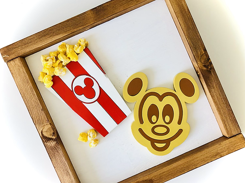 Waffle and Popcorn Sign