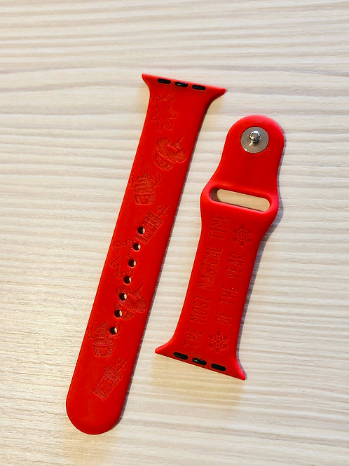 Christmas Snacks Design Watch Band (For Apple Watch