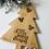 Thumbnail: Christmas Tree Bamboo Food Board
