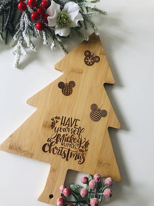 Christmas Tree Bamboo Food Board