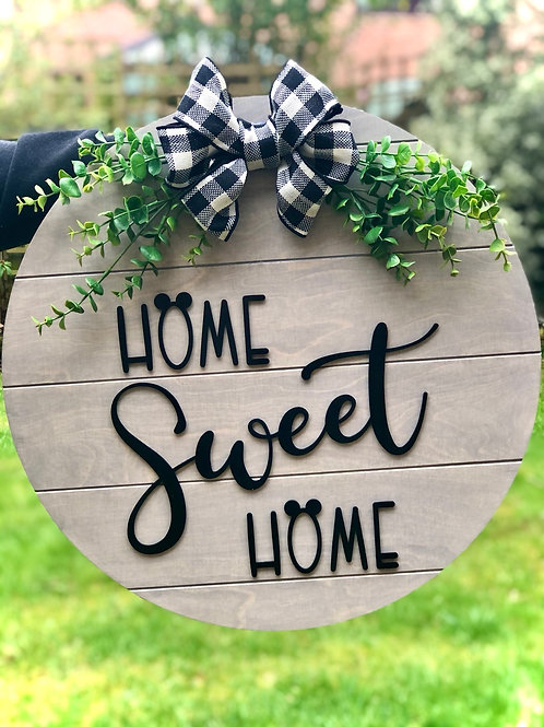 Home sweet home mouse Sign 40cm Diameter