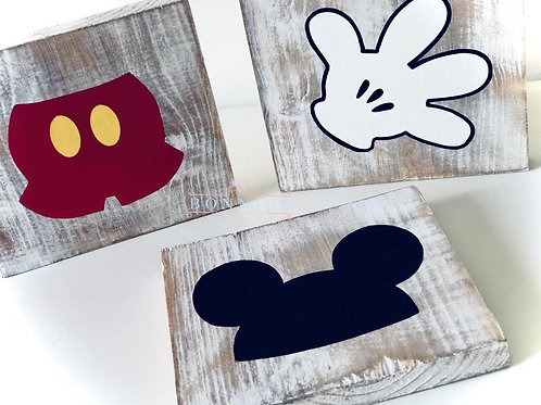 Mouse Inspired Solid Wood Signs