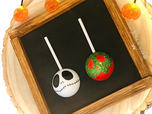 Halloween Candy Apples Wooden Sign