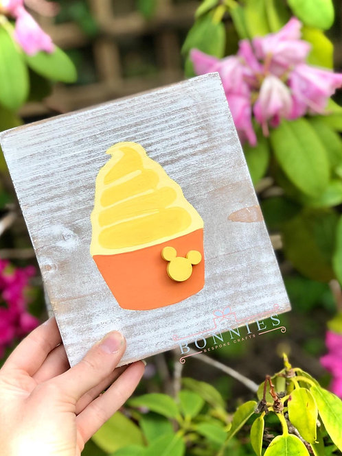 Mouse Dole Whip Inspired Sign - Solid Wood