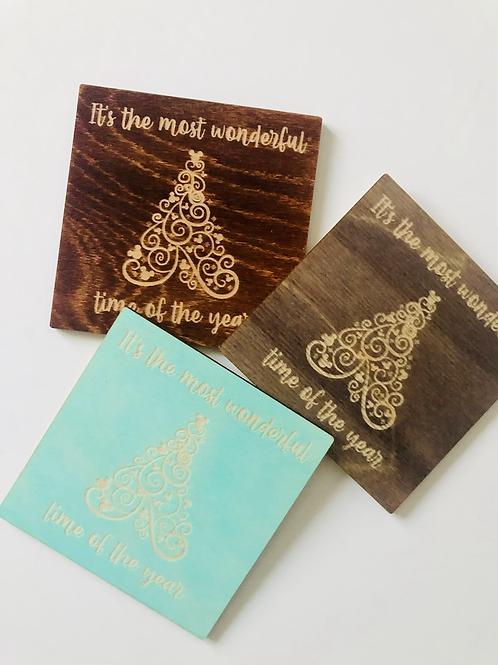 Christmas Tree Coaster - 4 Pack