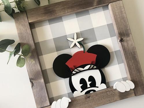 Mouse & Flower Peeking Frame