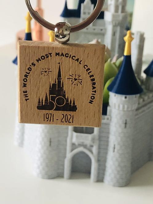 WDW 50th Anniversary Castle Keyring