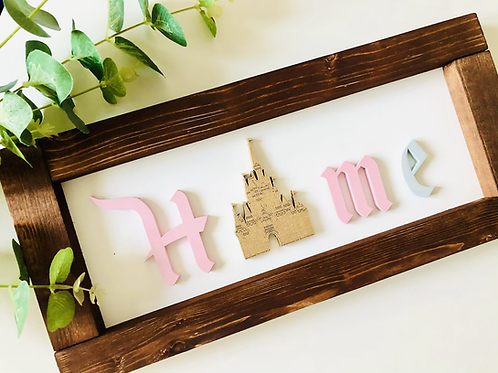 Castle Inspired Home Sign