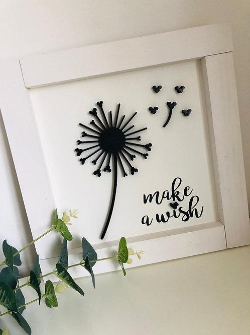 Dandelion Make A Wish Sign