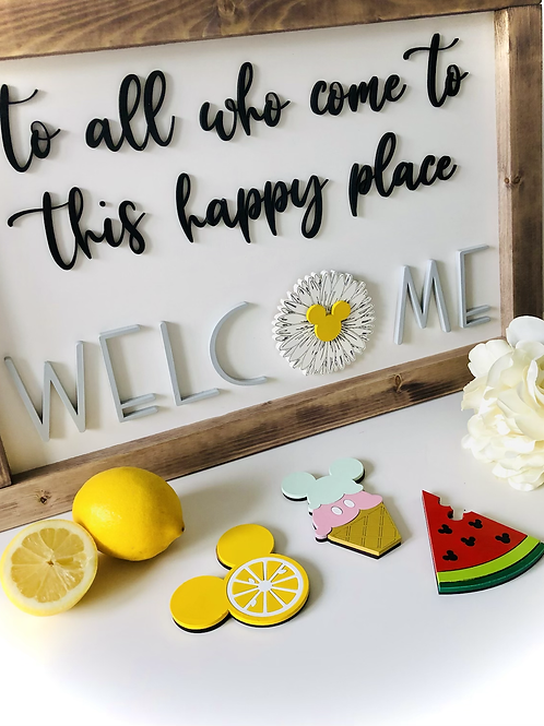 Happy Place Welcome Sign