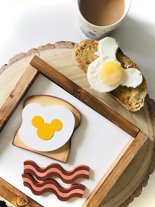 Mouse Breakfast Sign -  Solid Wood