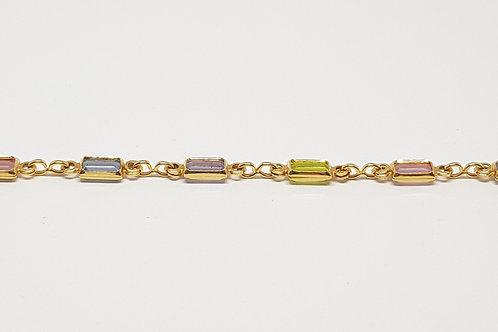 Pulseira folheada a ouro 18k tamanho 18cm - COD:RD40493